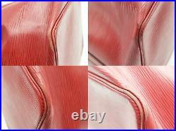 100%Auth LOUIS VUITTON Petit Noe Drawstring Shoulder Bag EPI Red M40839 Vintage