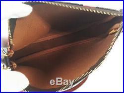 100%Auth LOUIS VUITTON Rose Pochette Accessories Accessory Pouch Monogram M48615