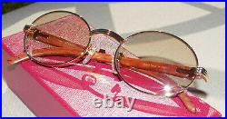 100% Authentic Cartier C Decor Mixed Marbled CT9323C Buffs Buffalo Sunglasses