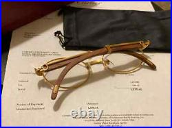 100% Authentic Cartier C Decor Rosewood OG CT0207S Buffs Buffalo Sunglasses