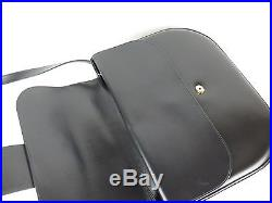 100% Authentic Cartier Leather Shoulder Bag Navy Made In France WithBox & Dust Bag