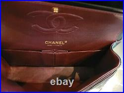 100% Authentic Chanel Classic Medium Double Flap Black Caviar Gold Hardware Bag