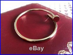 100% GENUINE CARTIER SM Juste Un Clou Bracelet in YELLOW GOLD Size 17