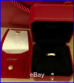 100% authentic Cartier LOVE ring wedding band rose gold size 51