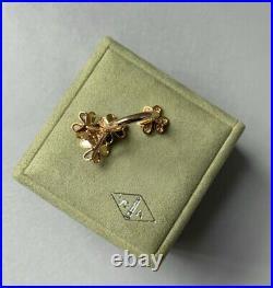 10K+ Van Cleef & Arpels DIAMOND Yellow Gold Alhambra FRIVOLE Between Finger Ring
