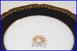 10 Haviland Limoges France COBALT & GOLD ENCRUSTED 9.25 Inch Plates