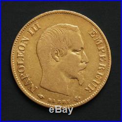 10 francs or Napoleon III années variées Gold coin France