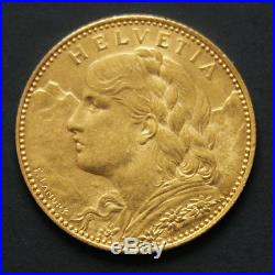 10 francs or Suisse Vreneli Gold coin Swiss années variées / random years