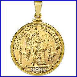 14K Gold Screw-Top Plain Coin Bezel (French 20 Francs) SKU #26767