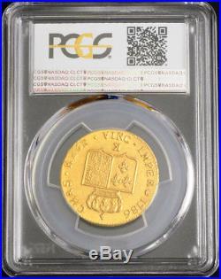 1786-K, Royal France, Louis XVI. Gold Double Louis Coin. (15.3gm!) PCGS MS-63