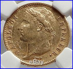 1811 FRANCE Napoleon Bonaparte 20 Francs Antique French Gold Coin NGC i70822