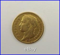 1812 France 40 Francs Gold, Napoleon Emperor, Paris Mint