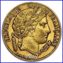 1849-1851 France Gold 20 Francs Early Head Ceres Avg Circ SKU #75926