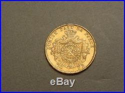 1882 Belgium 20 Francs GOLD CoinLeopold IIForeign Bullion CoinGreat Price
