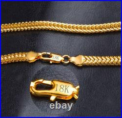 18k Yellow Gold Men's Italian Curb Link Chain Necklace w GiftPkg D517-544