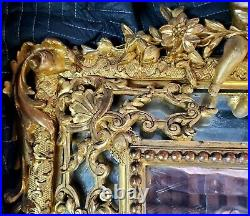 18th Century French Mirror, Beveled Gold Leaf (Pair Available)