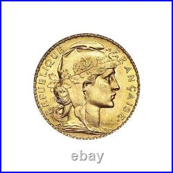 1906 1914 French Rooster 20 Franc Gold Coin