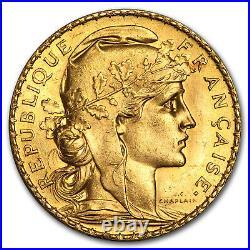 1913 France Gold 20 Francs Rooster BU SKU#182425