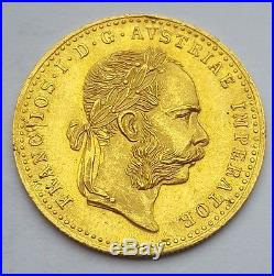 1915 AUSTRIA GOLD COIN FRANC AVSTRIAE IMPERATOR HVNGAR BOHEM 3.5 Gram