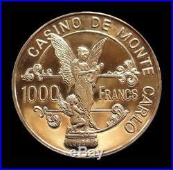 1979 Gold Proof Casino De Monte Carlo 1000 Francs Gaming Token