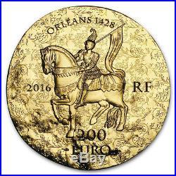 2016 1 oz Proof Gold 200 Women of France (Joan of Arc)