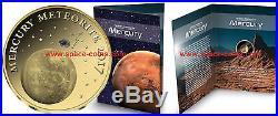 2017 Chad, Mercury Meteorite, 3000 Francs, Gold! NWA 8409 Meteorite, Goldcoin
