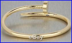 2018 Cartier Juste un Clou Nail Size 15 18K Yellow Gold Bangle Bracelet with Box