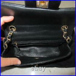 2019Receipt Chanel Black Lambskin Light Gold Crossbody Rectangular Mini Flap Bag