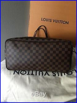 2019 Authentic Louis Vuitton Neverfull GM Damier Ebene Shoulder Bag