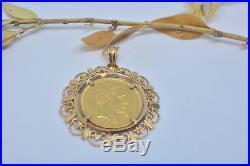 20 FRANCS OR Napoléon III MONTÉE PENDENTIF POIDS 11.66 GR (gold coin pendant)