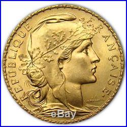 20 Francs France Gold Coin Rooster (BU)