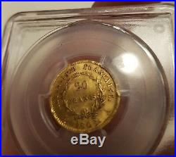 20 Francs Or Gold Napoléon I 1808 A Type République PCGS AU58 SUPERBE
