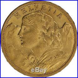 20 Francs Swiss Gold Coin Helvetia (BU)