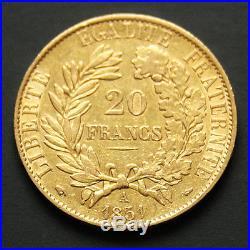 20 francs or Cérès années variées (1850-1851) A Gold coin France random year