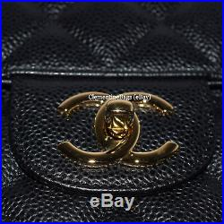 $6700 BNIB Chanel Maxi Black Caviar Quilted Timeless Classic bag GOLD Hardware