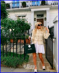 $7,000 Chanel 2019 19a Paris-new York Ecru & Gold Tweed Jacket Fr 38/ 4 6