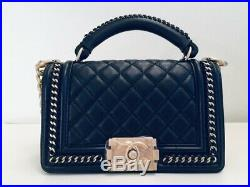AUTHENTIC Chanel Boy with handle gold H/W