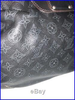 AUTHENTIC Louis Vuitton Black Mahina Hobo