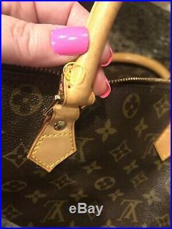AUTHENTIC Louis Vuitton Speedy 30 Brown LV Monogram Tote. Lightly Used Handbag