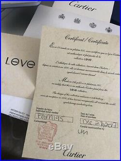 AUTH CARTIER LOVE BRACELET 18K Yellow GOLD PAVE DIAMONDSSize 17-Box & Papers