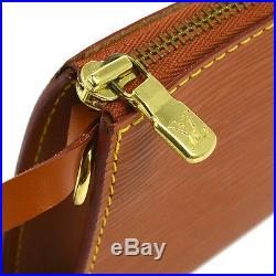 AUTH LOUIS VUITTON POCHETTE ACCESSOIRES PM HAND BAG CIPANGO GOLD EPI BT14373k