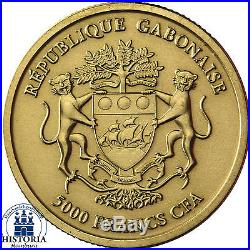 Afrika Serie Gabun 5000 Francs 2013 African Lion Löwe 1/8 Gold Ounce