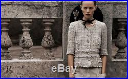 Amazing Rare Runaway Chanel Jacket Tweed Gold Insert Blazer F 40 UK 10 US 6