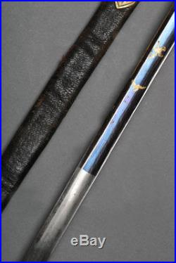 Antique French Superior Officers Sword. Blue and Gold. France, Circa 1830