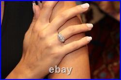Antique Original Natural Diamond Decorated 14k Gold Artdeco Time Amazing Ring