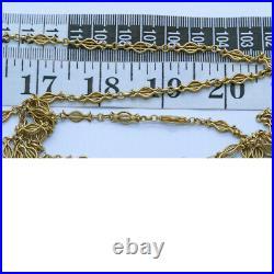 Antique Victorian Long Chain Necklace Sautoir 18k Gold c1890 Versatile (6752)