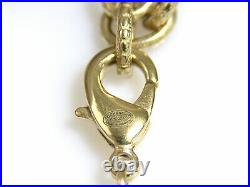 Auth CHANEL CC Logo Necklace Off White/Gold Faux Pearl/Goldtone 98501f
