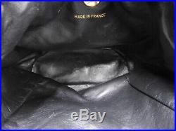 Auth CHANEL CC Matelasse Chain Backpack Bag Lambskin Leather Black Gold V-0545