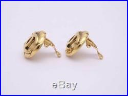 Auth CHANEL Vintage 96A Small CC Logo Clip-on Earrings Goldtone e39464