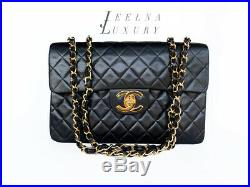 Auth Chanel Vintage 13 XL Maxi Classic Jumbo Bag 24k Gold Plated HW EXCELLENT